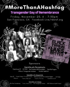 Poster for TDoR with Sponsors.